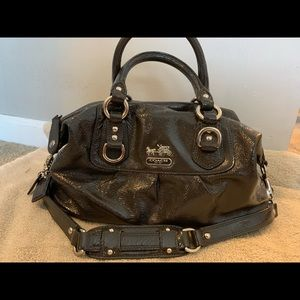 Coach patent leather Sabrina satchel